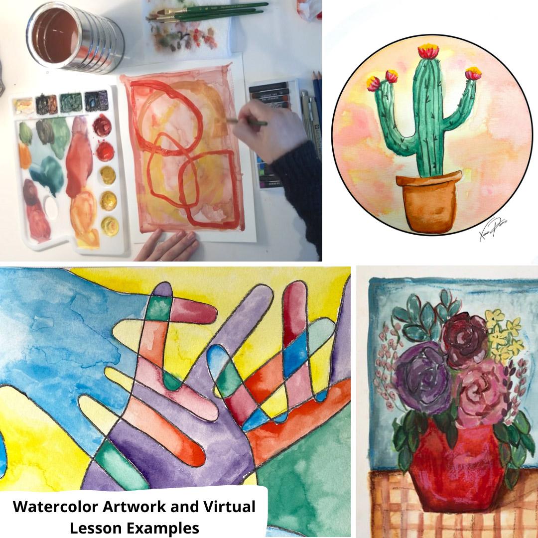 Example of Watercolor Lesson Artwork
