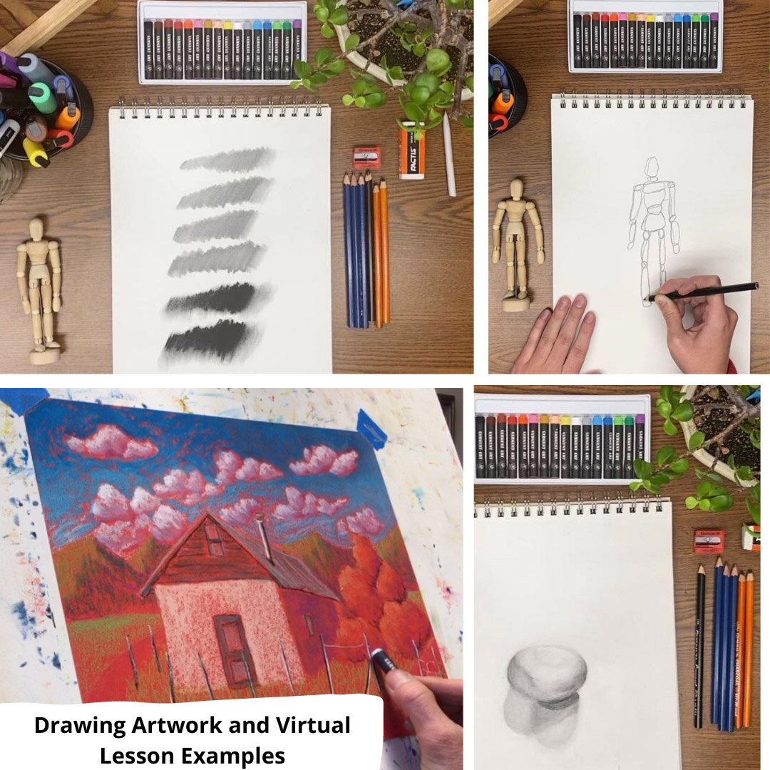 Example of Drawing Lesson Artwork